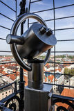 Munich, Germany. Panoramic viewpoint. Telescope in Peterskirche Royalty Free Stock Image