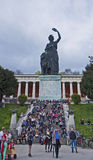 Munich, Germany - people sitting  and leasurely walking outdoors Stock Photography