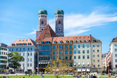 Munich, Germany, Sept. 2015: office building in the old city cen Stock Images