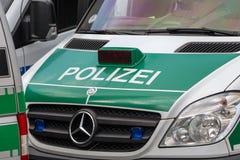 German police van at dayllight royalty free stock image