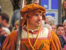 Munich, Germany - 22 September 2013 Oktoberfest, parade. A man d royalty free stock photography