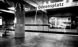 Munich, Germany - Subway Odeonsplatz station night time Stock Photography