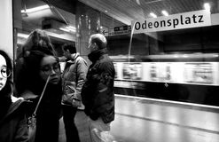 Munich, Germany - Subway Odeonsplatz station night time Royalty Free Stock Photo