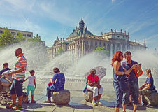 Munich, Germany, summer at Karlsplatz Royalty Free Stock Photos