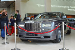 MUNICH, GERMANY 19TH APRIL 2014 - Rollys Royce Phantom on displa Royalty Free Stock Photos