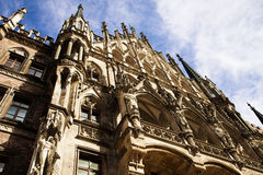Munich, Germany, view of the Rathaus (City Hall)  in Marienplatz Stock Images
