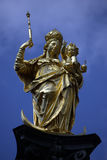 Munich golden Virgin statue Stock Images