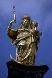 Munich golden Virgin statue Stock Images
