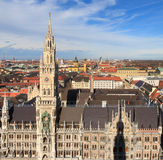 Munich, Gothic City Hall at Marienplatz, Bavaria Stock Photos