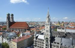 Munich gränsmärken Arkivfoton