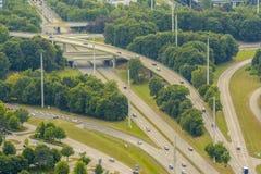 Munich huvudvägar royaltyfri foto