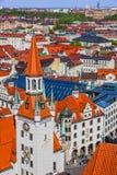 Munich i Bayern, Tyskland Gammal townarkitektur Fotografering för Bildbyråer