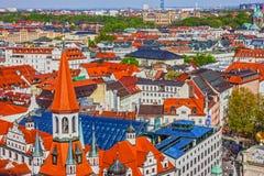 Munich i Bayern, Tyskland Gammal townarkitektur Royaltyfria Bilder