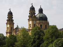 Munich - igreja de Theatiner Imagem de Stock Royalty Free