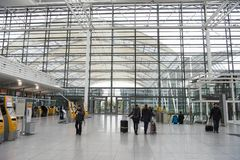 Munich International Airport, departure hall Royalty Free Stock Photos