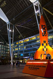Munich International airport at night Royalty Free Stock Photos