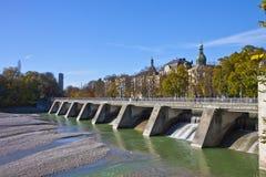 Munich, Isar river banks Royalty Free Stock Photos