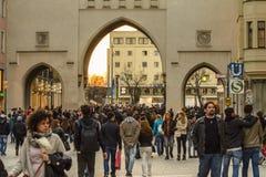 Munich Karlstor Gate, Bavaria, Germany Royalty Free Stock Photography