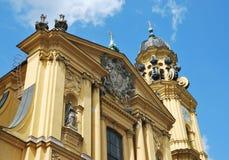 munich kościelny theatine Zdjęcie Royalty Free