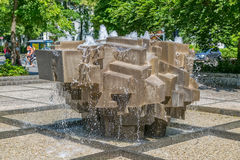 Munich Koninginstrasse crystal fountain Royalty Free Stock Photo