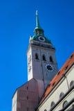 Munich, la iglesia de San Pedro Foto de archivo libre de regalías