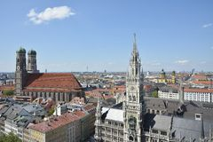 Munich Landmarks Royalty Free Stock Photography