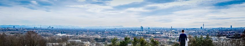 Munich landscape with alps royalty free stock photos