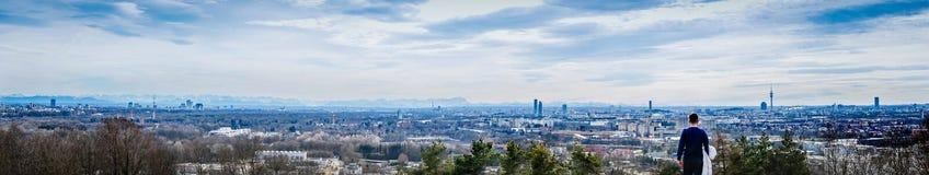 Munich landskap med fjällängar royaltyfria foton