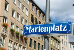 Munich Marienplatz Stock Photo