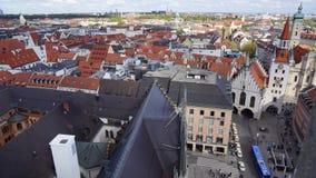 Munich Marienplatz Bayern ny stadshussikt royaltyfri foto
