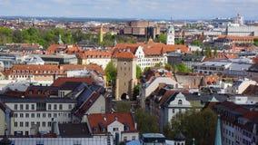 Munich Marienplatz Bayern ny stadshussikt arkivfoton