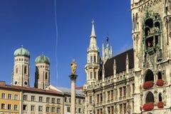 Munich Marienplatz, City Center Stock Photos