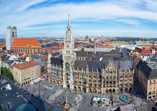 Munich Marienplatz Stock Photography