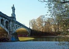 Munich, Maximilian bridge on Isar river Stock Images