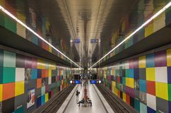 The Munich metro system, one of the most advanced in Europe stock images
