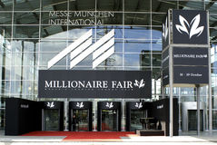 Munich Millionaire Fair Entrance. Millionaire Fair Entrance at the Munich international fairgrounds- Munich Germany 16-19 October Stock Photography