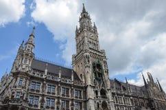 Munich nytt stadshus, Tyskland Arkivfoton