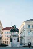 Munich, October 29, 2017: monumental statue of King Ludwig the First of Bavaria Stock Photos