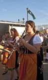 Munich, Oktoberfest- band, women playing Royalty Free Stock Photos