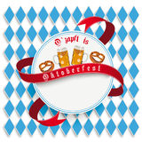 Munich Oktoberfest White Round Emblem Stock Photography
