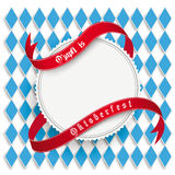 Munich Oktoberfest White Round Prongs Emblem Stock Photo