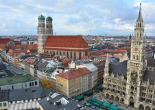 Munich old town aerial view Stock Photography