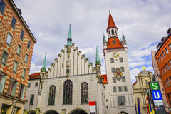 Munich old town hall royalty free stock photo