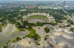 Munich Olympia Park and Olympic Arena Royalty Free Stock Images