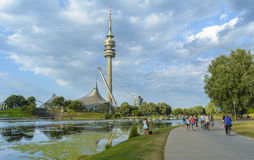 Olympiapark in Munich, Bavaria, Germany Royalty Free Stock Photos