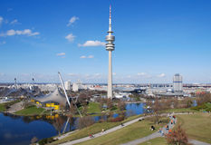 munich olympiapark Arkivbild