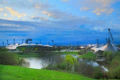munich olympiapark royaltyfri foto