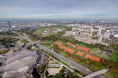 Munich Olympiapark. From the TV tover Stock Photography