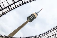 Munich Olympiaturm fotografia de stock