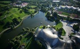 munich olympic park Arkivbild